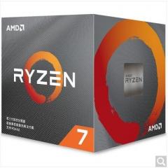 AMD 锐龙7 3700X 7nm 8核16线程 3.6GHz 65W AM4接口 盒装CPU