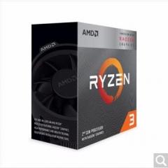 AMD 锐龙R3 3200G 4核4线程 3.6GHz  AM4接口  集成显卡 盒装CPU