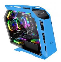 撒哈拉D900MINI蓝 异型 支持大主板 水冷机箱
