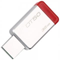 金士顿  DT50   32g u盘    高速USB3.1 不锈钢金属u盘