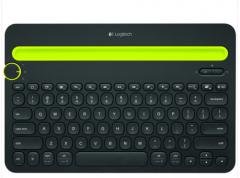 罗技 K480 无线蓝牙键盘 多平台智能安卓iphone电脑手机 白 无线
