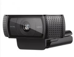 罗技(Logitech)C920PRO主播推荐摄像头 高颜值美颜台式电脑视频高清直播摄像头 黑色