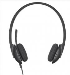 罗技(Logitech)H340笔记本台式电脑耳麦耳机麦克风可调节佩戴音乐