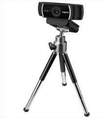 罗技(Logitech)C922 高清网络摄像头 主播高清摄像头 1080P(带三脚架)
