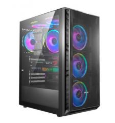影驰 铁甲G1 电脑机箱台式DIY全侧透RGB游戏水冷ATX大板机箱背线