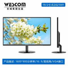 长城Wescom显示器 E2021 19.5  黑色VGA(带VGA线)