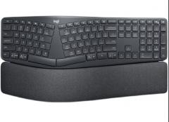 罗技K860无线蓝牙双模键盘人体工学设计分体式键盘