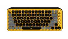 罗技(Logitech)POP Keys泡泡无线机械蓝牙键盘 游戏键盘 办公键盘机械键盘 黄色 无线