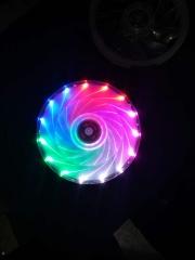 五 彩光圈风扇 大4P接口