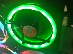 游戏悍将双光圈绿灯风扇