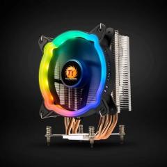 Tt-彩虹D300P 立式四热管 风扇样式 炫彩版