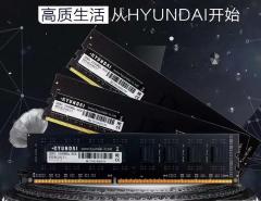 韩国现代HYUNDAI DDR4 2666 16G内存祥云马甲(正品行货三年换新终身保固)