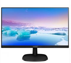 飞利浦 243V7QHSB   (23.8) 可壁挂 IPS技术面板 低蓝光爱眼不闪 窄边框 VGA+HDMI 黑色