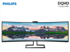 飞利浦 PHILIPS 499P9H1 1800R曲面 广色域 真HDR400 电脑显示器
