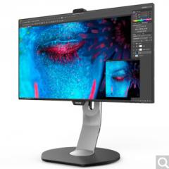飞利浦显示器 241P8QPTKEB 商用公司办公电脑屏 IPS设计制图美工用屏幕