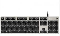 罗技(G)G413 有线 游戏机械 全尺寸背光机械键盘 铝合金机身 吃鸡键盘 银色