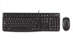 罗技(Logitech)MK120 键鼠套装 有线键鼠套装 黑色