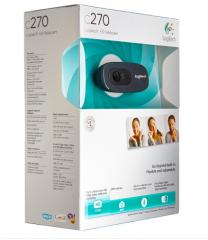 罗技(Logitech)C270 高清网络摄像头 高清视频通话 720P