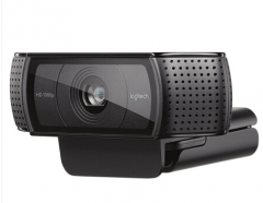 罗技(Logitech)C920主播推荐摄像头 高颜值美颜台式电脑视频高清直播摄像头 黑色