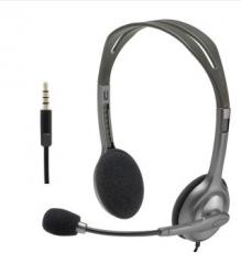 罗技(Logitech) H111头戴式立体声耳机麦克风 电脑笔记本耳麦 黑色