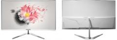 长城WESCOM显示器C2792白色27寸曲面VGA+HDMI(带HDMI线)