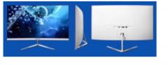 长城WESCOM显示器 C2775白色曲面VGA+HDMI(带HDMI线)