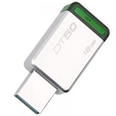 金士顿U盘16g u盘高速USB3.1 DT50不锈钢金属u盘