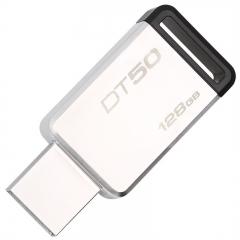金士顿U盘128g u盘高速USB3.1 DT50不锈钢金属u盘