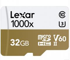 雷克沙(Lexar)32GB 读150MB/s 写75MB/s TF高速存储卡 1000x