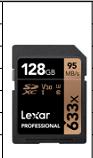 雷克沙SD卡 633X 32G 读95M 写20M U1
