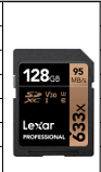 雷克沙SD卡 633X 128G 读95M 写45M U3