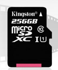 金士顿256g内存卡 Class10高速tf卡