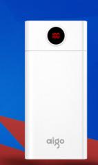 aigo爱国者电子出品W300充电宝智能屏显聚合物移动电源(30000毫安)
