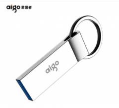 爱国者(aigo)128GB USB3.0 高速读写 U310 车载U盘 银色 一体封装 防尘防水
