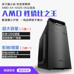 AMD 性价比之王 7400K 金邦4G内存  影驰120G固态或WD1T硬盘任选其一 套餐二微星主板 影驰120G固态
