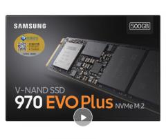 三星(SAMSUNG)500GB  M.2接口(NVMe协议) 970 EVO Plus