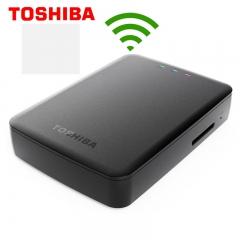 东芝 无线移动硬盘 1T 2.5寸 手机 wifi共享 USB3.0 1TB  带SD卡槽 一键备份