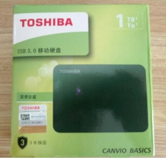 东芝(TOSHIBA)新小黑A3系列 1TB 2.5英寸 USB3.0 移动硬盘