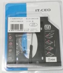 IT-CEO笔记本光驱位SATA硬盘托架 9.5mm薄硬盘通用型 塑料