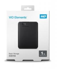 WD/西数 E元素 1T 移动硬盘 USB3.0 质保3年