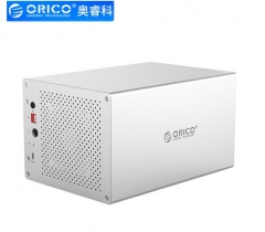 奥睿科(ORICO)磁盘阵列柜usb3.0全铝 3.5英寸Type-c五盘位 WS500RC3 银