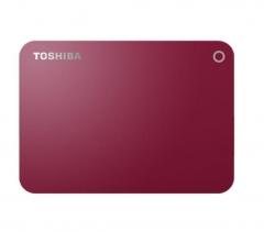 东芝(TOSHIBA)1TB USB3.0 移动硬盘 V8 CANVIO高端系列 2.5英寸 红色