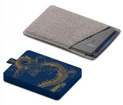 希捷 1T USB3.0移动硬盘龙盘 2.5英寸金色龙纹