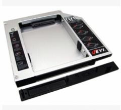 佳翼S27 全铝12.7mm笔记本光驱位硬盘托架 SATA笔记本光驱托架