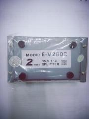 蓝海E线 VGA分配器分屏器 2802  2接口