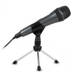 声籁M19电脑网络K歌话筒麦克风 银灰色