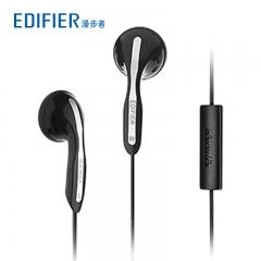 漫步者 H180P 电脑耳麦重低音耳塞式带麦慢步者手机耳机 (单插头)