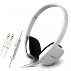 漫步者 H640P 头戴式耳机潮电脑耳麦 手机线控耳机带话筒 白色