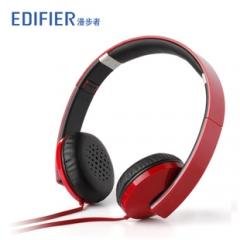 漫步者 H750 耳机头戴式潮流男女手机电脑MP3通用音乐耳机 红色