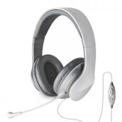 漫步者 K830 耳机头戴式电脑耳麦带麦重低音 白色